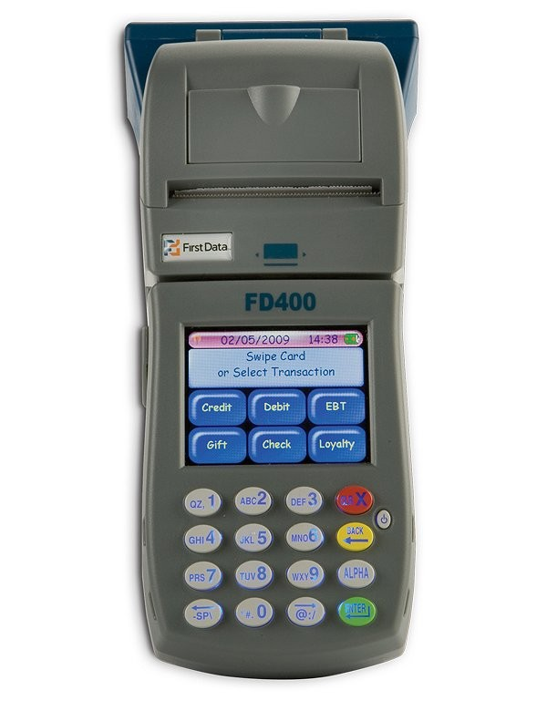 credit card machines for sale. The First DataFD400 Terminal